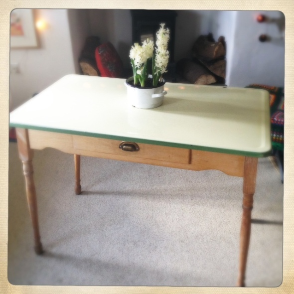 Enamel topped table