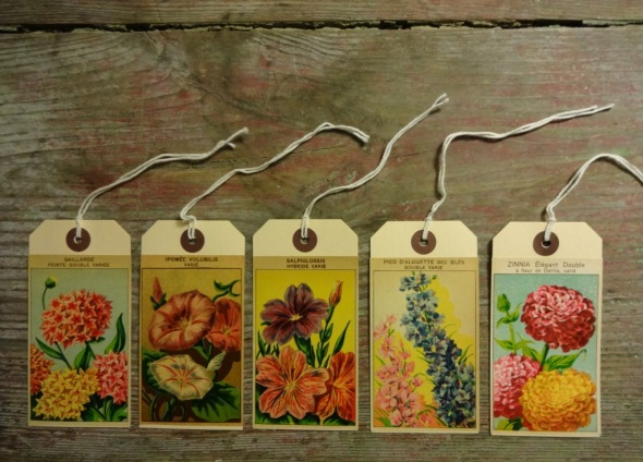 Gift Tags Flowers
