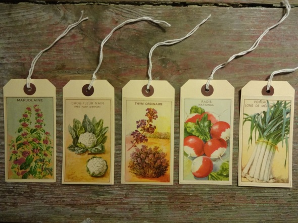 Gift Tags Herbs and Veg
